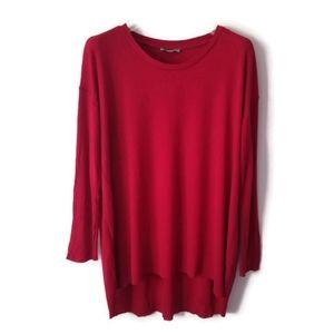 COS sweater red merino wool sz S